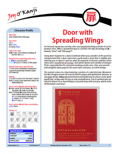 "Cover of essay 1730 on 扉, titled ""Door with Spreading Wings"""
