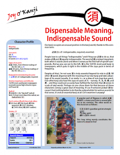 "Cover of essay 2038 on 須, titled ""Dispensable Meaning, Indispensable Sound"""