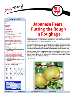 "Cover of essay 2086 on 梨 (pear), ""Japanese Pears: Putting the Rough in Roughage"""