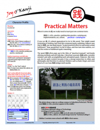 """Cover of essay 1495 on 践, titled """"Practical Matters"""""""